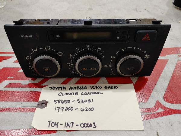 TOYOTA ALTEZZA A/C Switch Panel JCE10 SXE10 GXE10 IS300 IS200 LEXUS