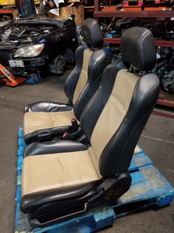 03-08 NISSAN 350Z FAIRLADY Z Z33 OEM BLACK/PEANUT BUTTER LEATHER SEATS JDM VQ35DE