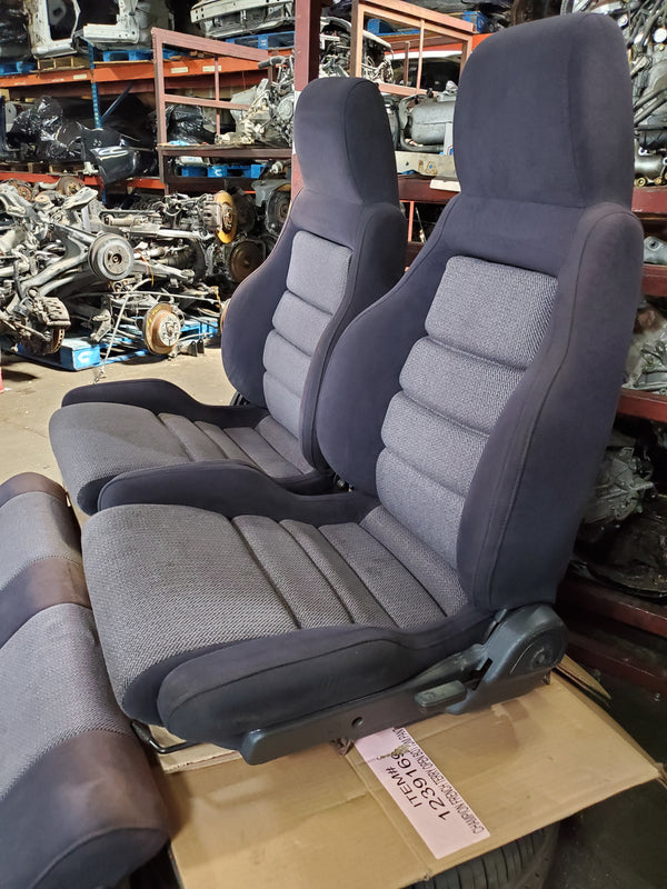 JDM OEM 1989 1990 1991 1992 MAZDA RX7 FC 2ND GEN FULL FRONT AND REAR SEAT 13B