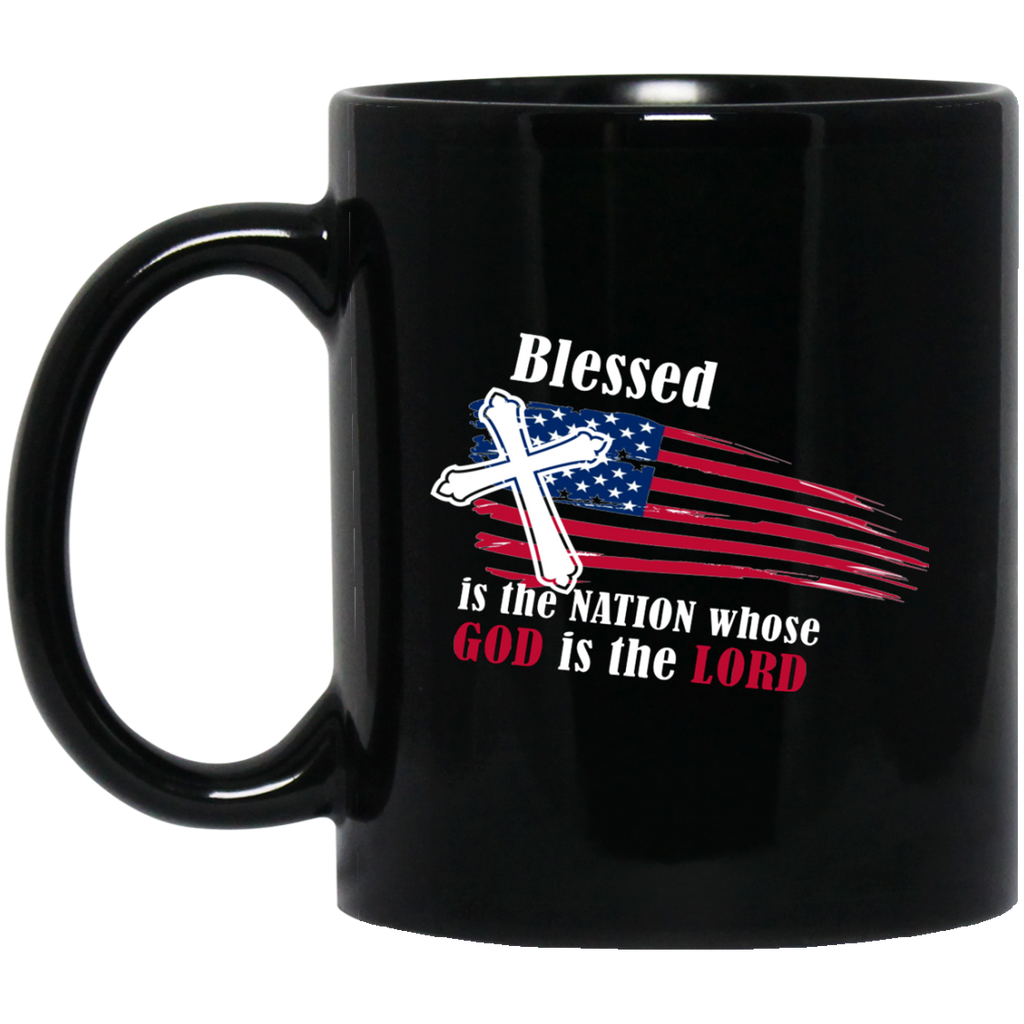 July 4th Mug America USA Blessed Is The Nation God Is Lord