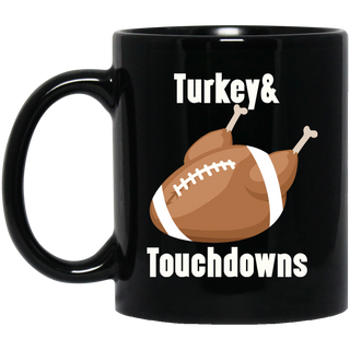 Thanksgiving Mug Gift Turkey And Touchdowns