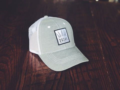 White Patch Trucker Hat