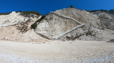 Egremni | Egremni Beach Earthquake | Egremni Beach Stairs | Egremni Beach is opening again after earthquake, with new stairs! - Lefkada Dream Tours | Tours, Adventures, Activities in Lefkada