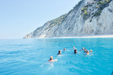 "Holidays in Lefkada, the marvelous ""Blue"" of the Ionian Sea. Tailor made private boat tours to Egremni beach & Porto Katsiki in Lefkada - Tripatricks"