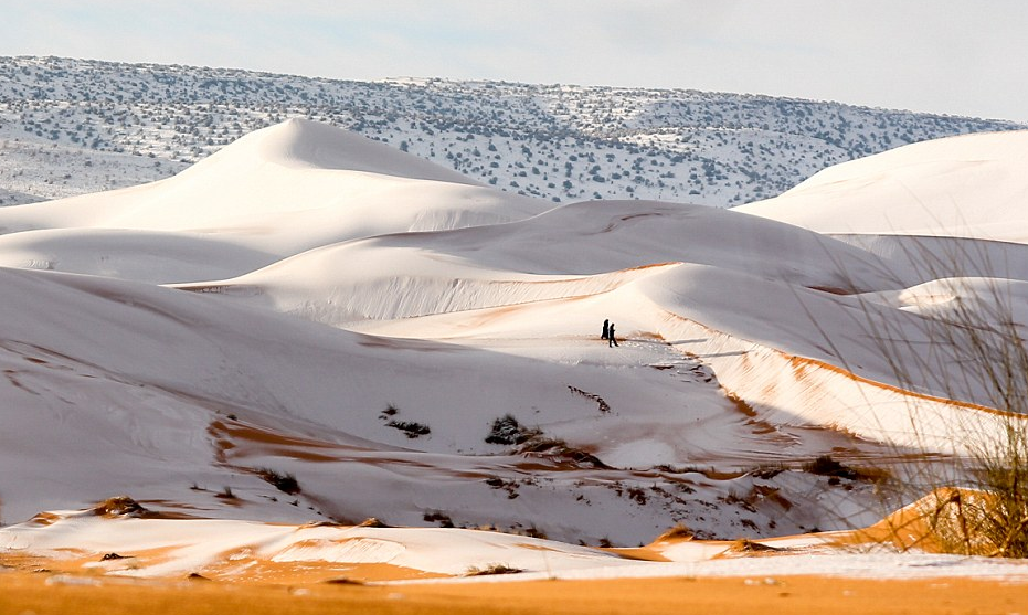 Snow in the Sahara becomes the ultimate global viral