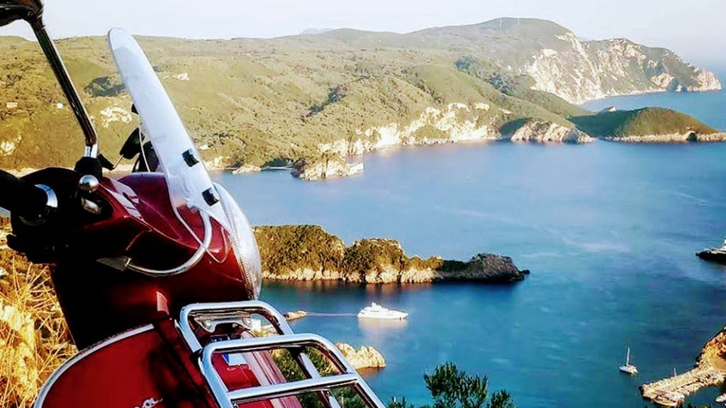 """Above & Beyond Palaiokastritsa"" Mp3-Trikes scooter tour Corfu. Ride a vespa scooter around the island of Corfu and discover the best sights from incredible points of view. Join a small group tour with a friendly tour escort for a fun and relaxed journey around Corfu island! BOOK ONLINE THIS TOUR - TRIPATRICKS"