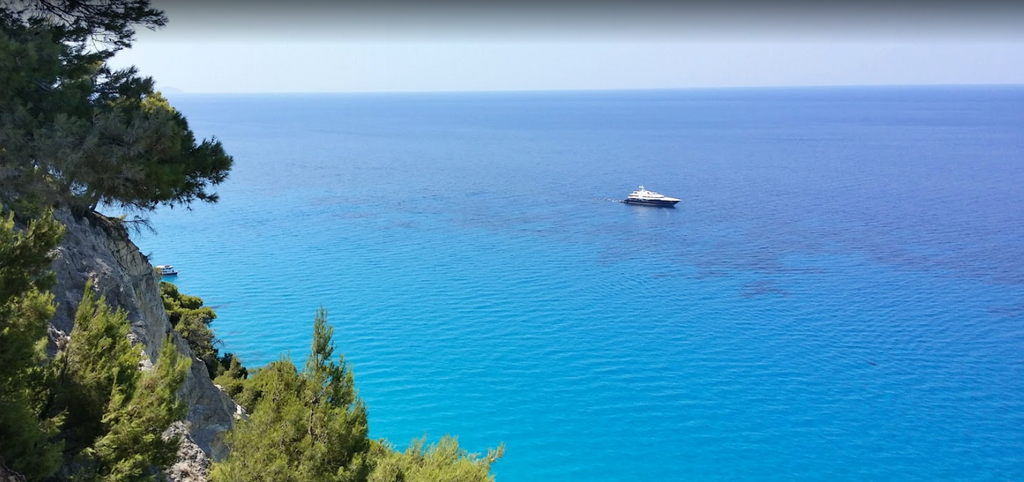 "Egremni beach Holidays in Lefkada, the marvelous ""Blue"" of the Ionian Sea"