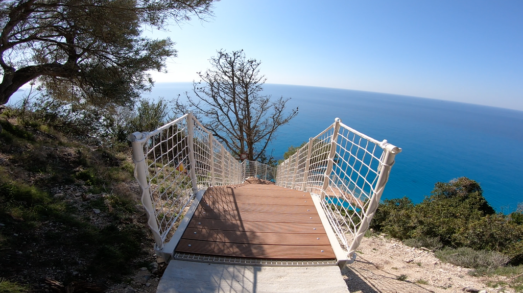Egrmni Egremni Beach Earthquake Egremni Beach Stairs - Lefkada Tours - Lefkada Dream Tours