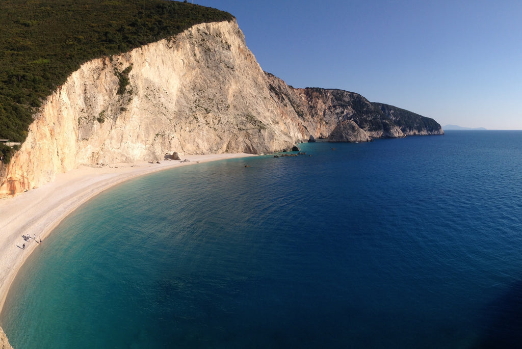 "Holidays in Lefkada, the marvelous ""Blue"" of the Ionian Sea, visit porto Katsiki beach in Lefkada visit Porto Katsiki in Lefkada- Tripatricks"
