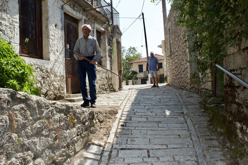 Englouvi Village in Lefkada An ideal tailor-made private day tour for your holidays in Lefkada! A unique adventure during our day including traditional places like Karya, Englouvi, the top of the mountain, Kavalikefta, Gyra and Kastro beach - Tripatricks