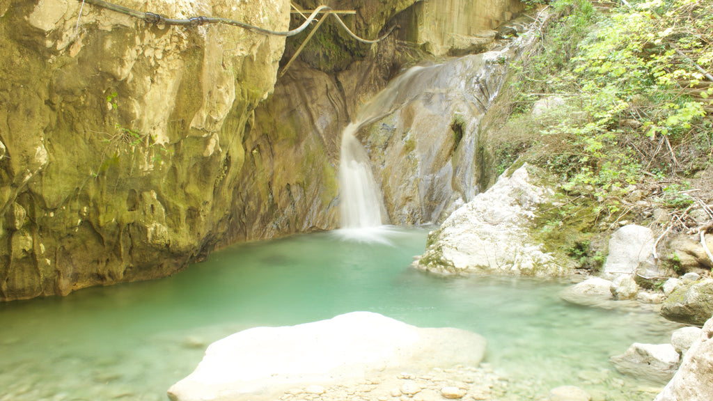 Dimossari Waterfalls in Nydri Lefkada Holidays in Lefkada the marvelous Blue of the Ionian Sea - Tripatricks