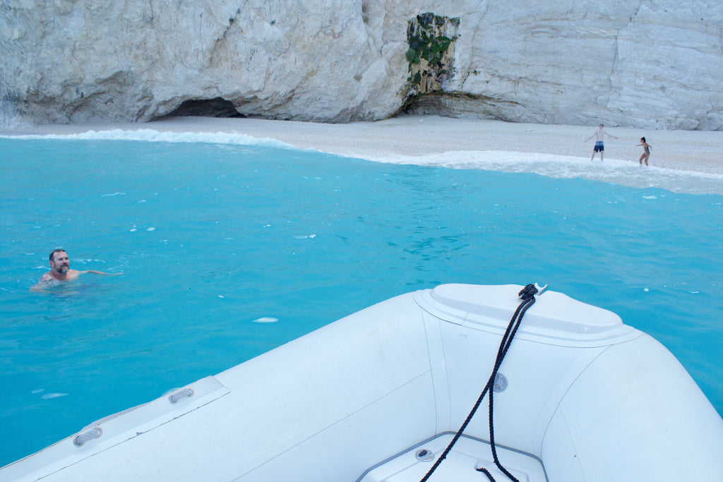 A private boat tour to Porto Katsiki & Egremni beach after earthquake swim in Egremni beach Lefkada Holidays Adventures Private Tours - Tripatricks