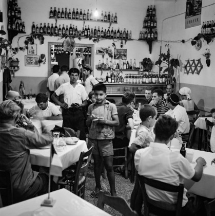 At Luke's restaurant. In the center his son. Robert McCabe The simplistic Santorini of the '50s 11 - tripatricks linking people to adventure
