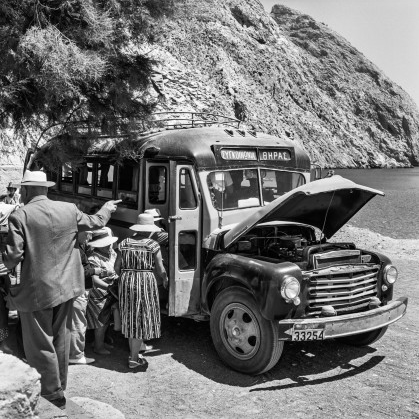The first bus of the island, from Perissa to Fira. Robert McCabe The simplistic Santorini of the '50s 6 - tripatricks linking people to adventure