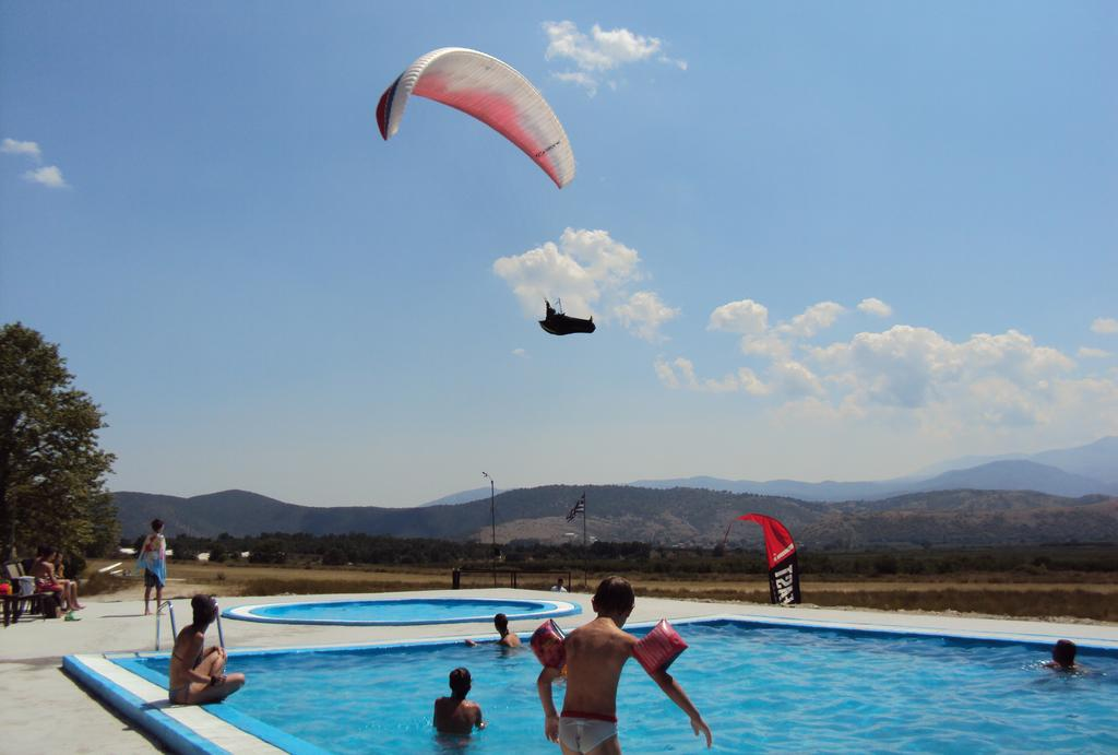 Visit Aitheron Hotel Air Park swimming pool Panagitsa Airport Edessa Bar and Kitchen is located close to Voras Kaimakstalan Ski Center Forest and Vegoritida Arnissa Lake. Aitheron Hotel Air Park is a perfect hot spot for adventure and extreme sports Paragliding Kayaking Rafting in North Greece - Tripatricks