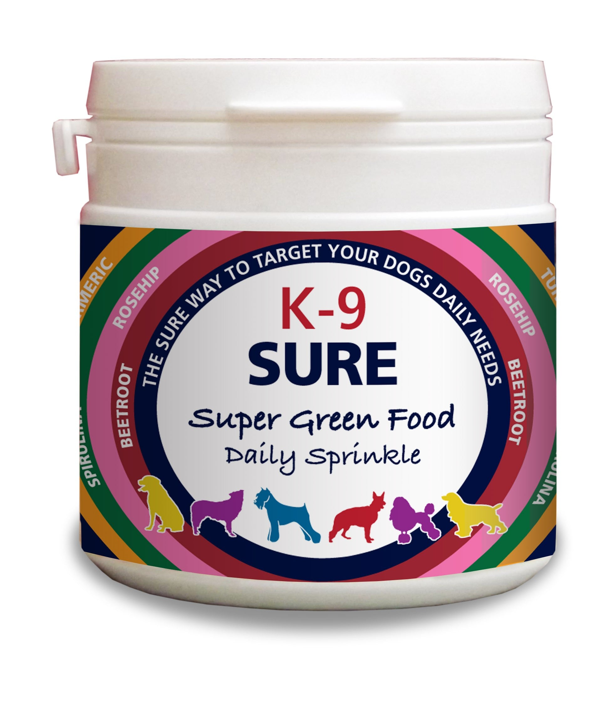 Phytopet K-9 Sure Super Green Food Nutritional Supplement Optimum Health and Wellbeing Daily Sprinkle Supplement