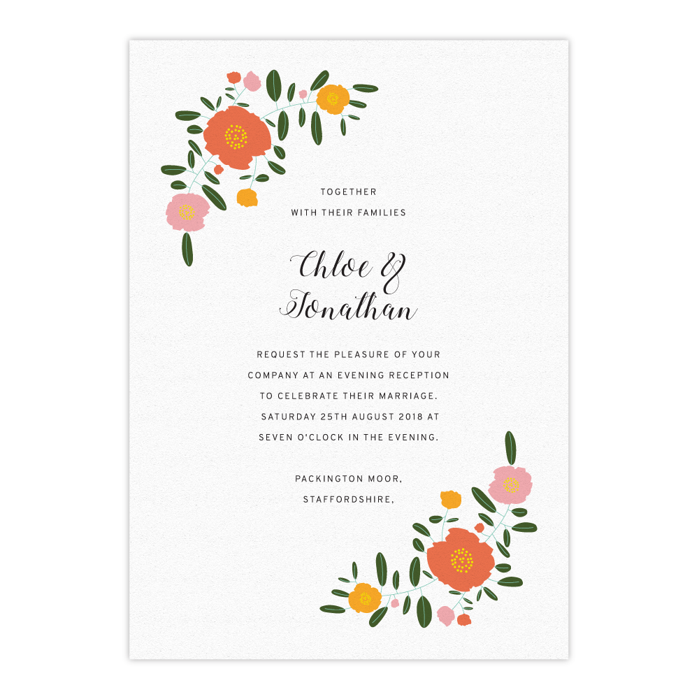 Evening Wedding Invitations (Exclusively by Salt&Oag)