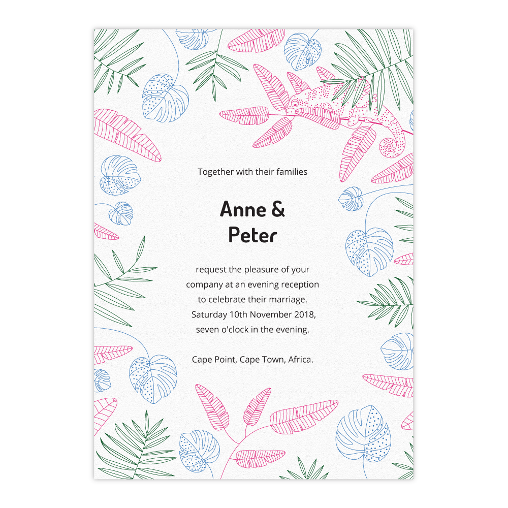 Tropical Wedding Invitation Set (Exclusively by Salt&Oag)