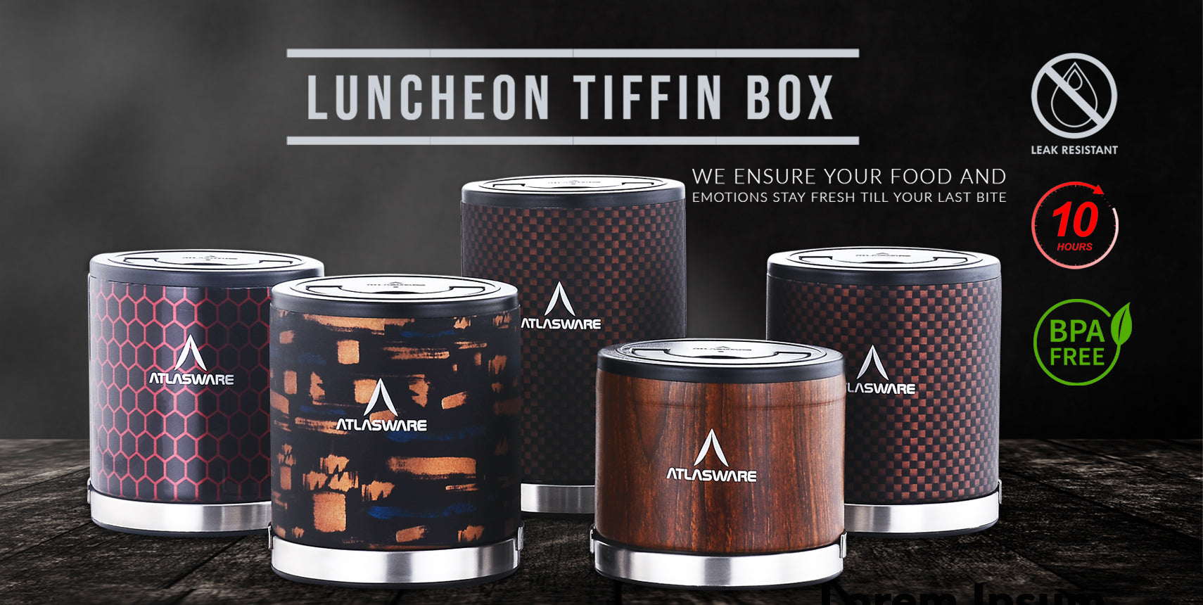 Atlasware Luncheon <br> Tiffin Box <br>