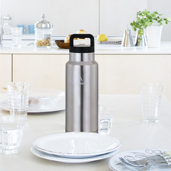Stainless Steel Handle Flask - Grey