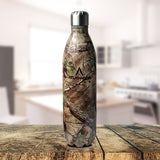 Stainless Steel Vacuum Bottle Green Forest - Digital Finish