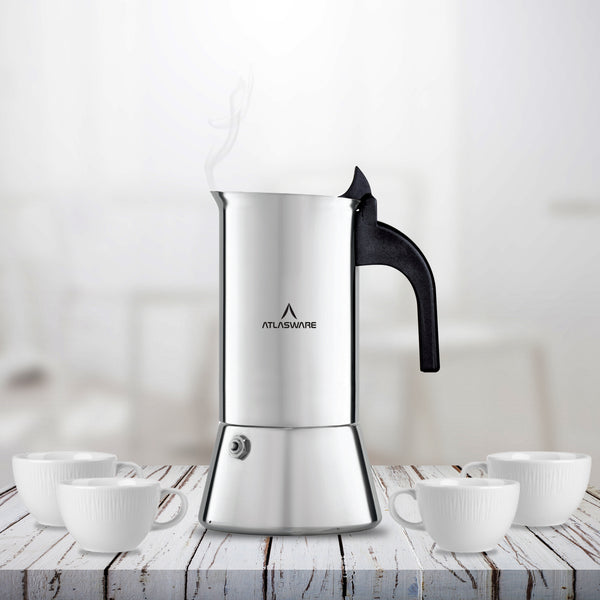 Stainless Steel Coffee Maker - Mocha Design