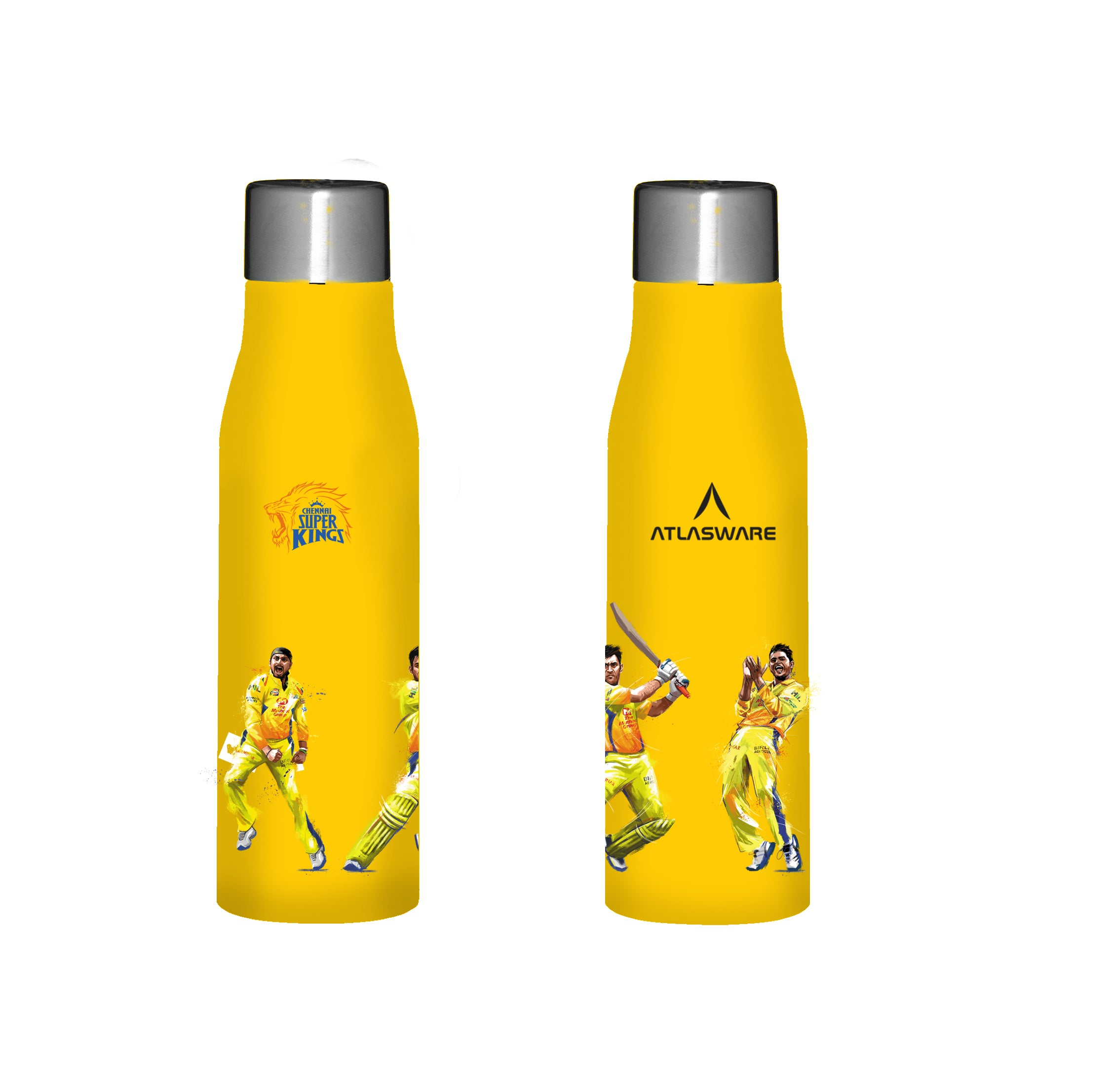 Chennai Super kings team stainless steel water bottle yellow