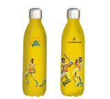 Chennai Super kings team stainless steel vacuum bottle yellow