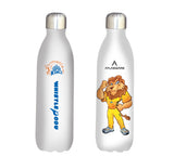 Chennai Super kings Leo designs stainless steel vacuum bottle white