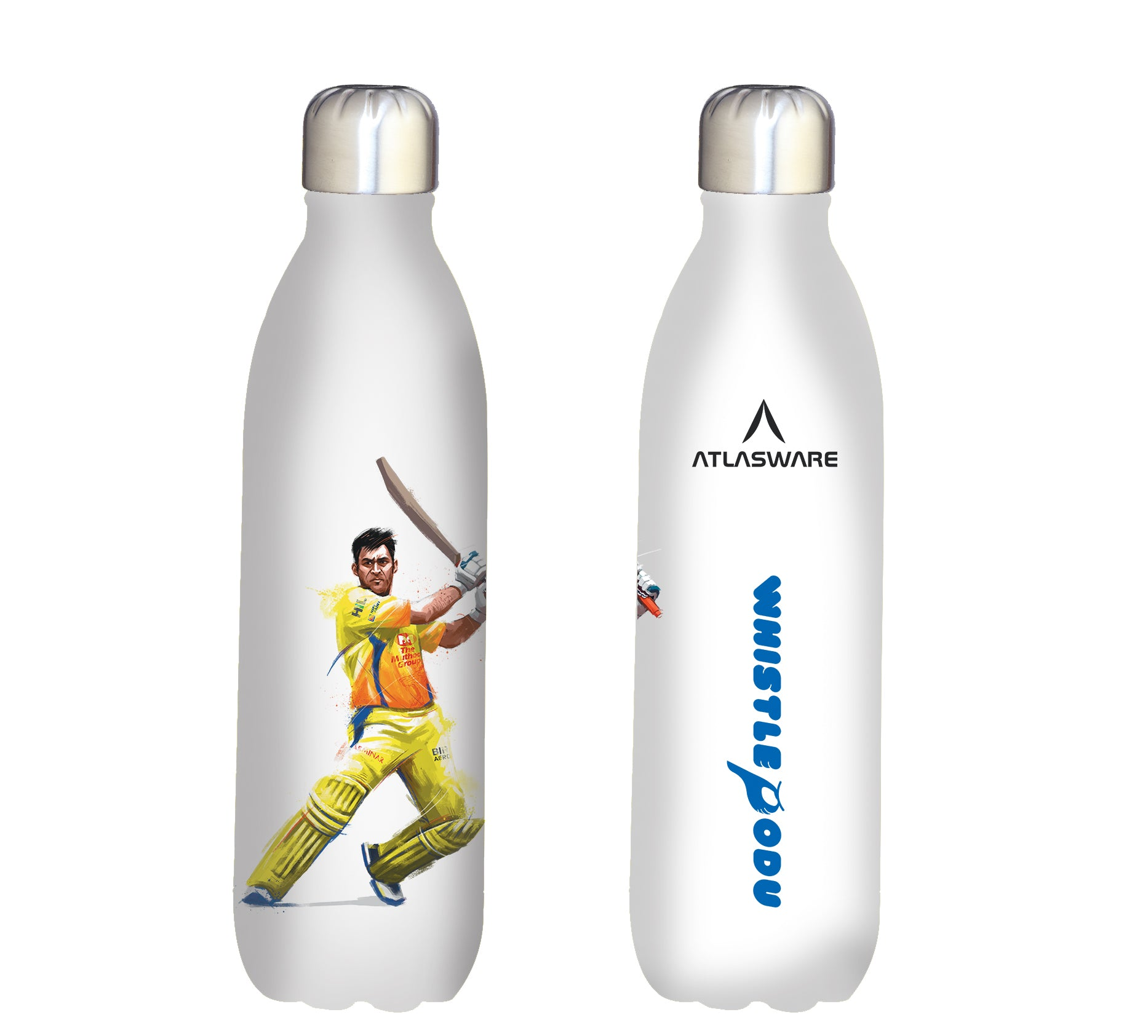Chennai Super kings whistle podu stainless steel vacuum bottle white