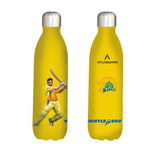 Chennai Super kings Thala shot stainless steel vacuum bottle yellow