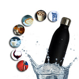 Stainless Steel Sports Edition Black Vacuum Bottle