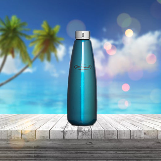 Stainless Steel Fridge Bottle - Glossy Blue