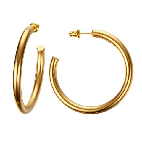 Small hoop earrings ELIZABETH - Shop Fige