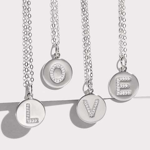 Your initial letter necklace TINA - Shop Fige