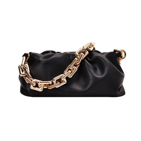 Soft bag with chain VIVIAN - Shop Fige