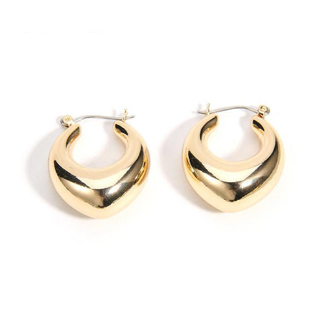 Gold vintage earrings - Shop Fige