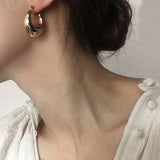 Gold vintage earrings BETH - Shop Fige