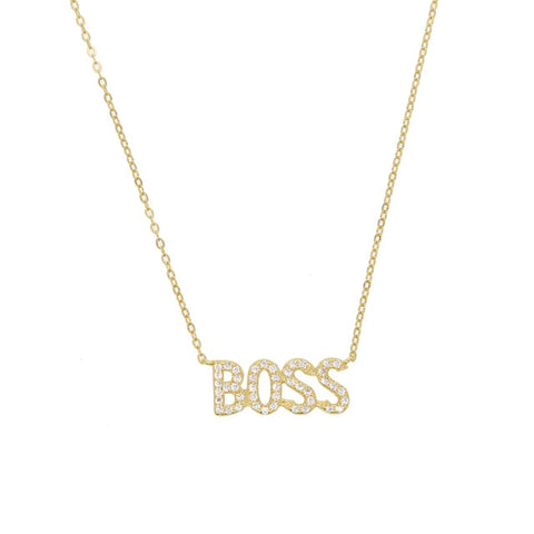 Silver Baby/Boss necklace - Shop Fige