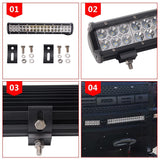 "Senlips C3CR 20"" 126w Flood Spot Combo Beam CREE LED Light Bar"