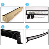 "Senlips Y3EP 52"" 300w Curved LED Light Bar"