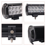 "Senlips C3CR 12"" 72w Flood Spot Combo Beam LED Light Bar"