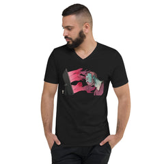 """Programmed Lust"" Unisex Short Sleeve V-Neck T-Shirt"