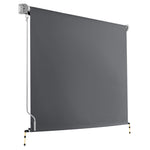 Instahut 1.8m x 2.5m Retractable Roll Down Awning - Grey