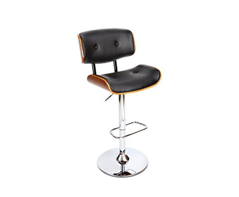 Artiss Wooden Gas Lift  Bar Stools - Black