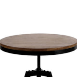 Artiss Elm Wood Round Dining Table - Dark Brown