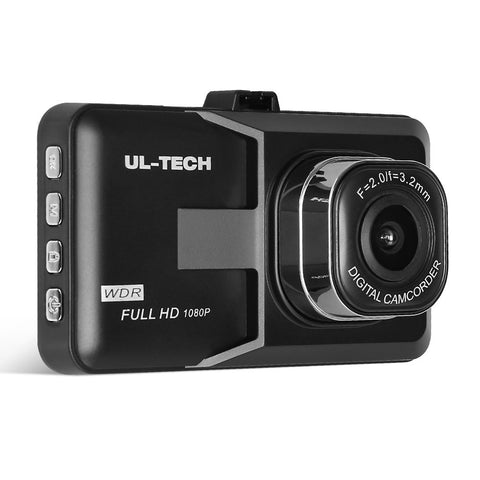 UL Tech 3 Inch Touch Screen Dash Cam - Black