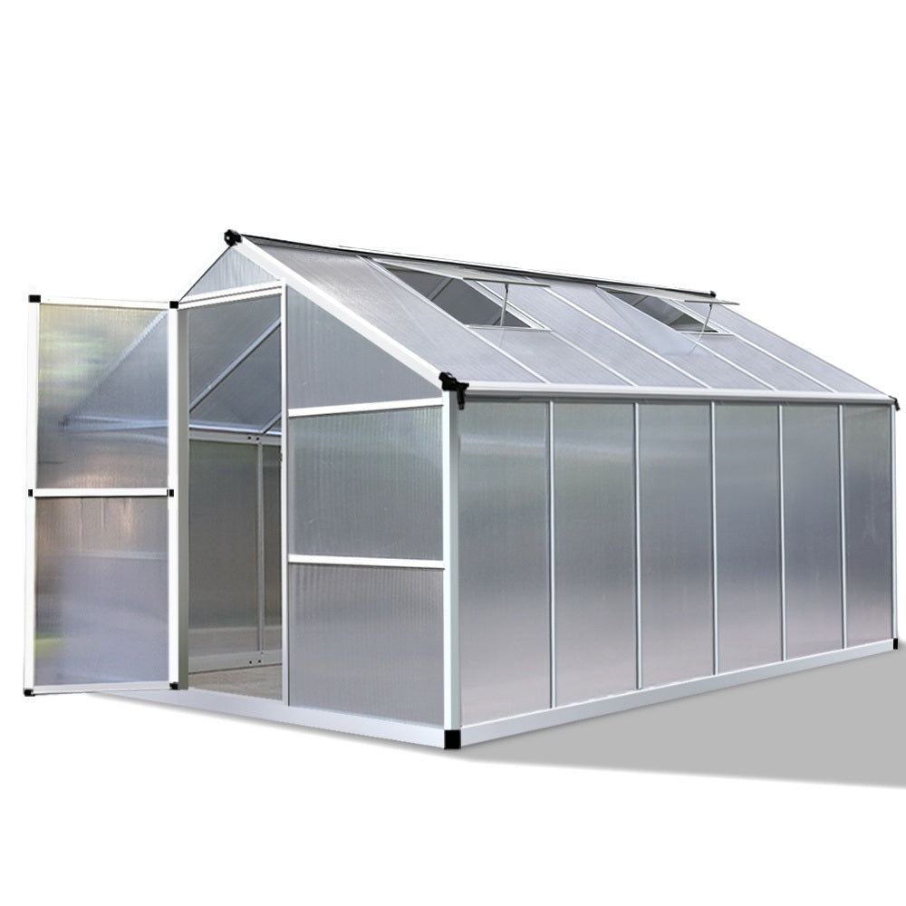 3.6 x 2.5M Polycarbonate Aluminium Green House