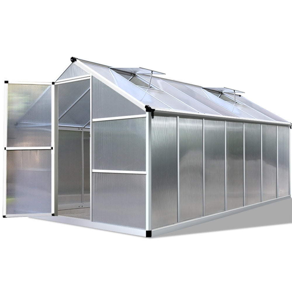 4.2 x 2.5M Polycarbonate Aluminium Green House