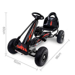 Rigo Kids Padel Powered Go Kart - Black
